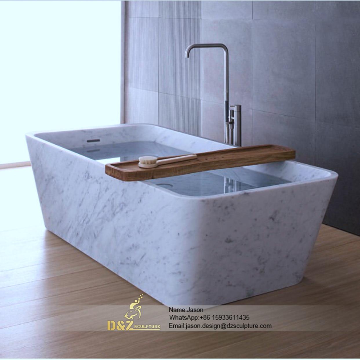 Large stone bathtub