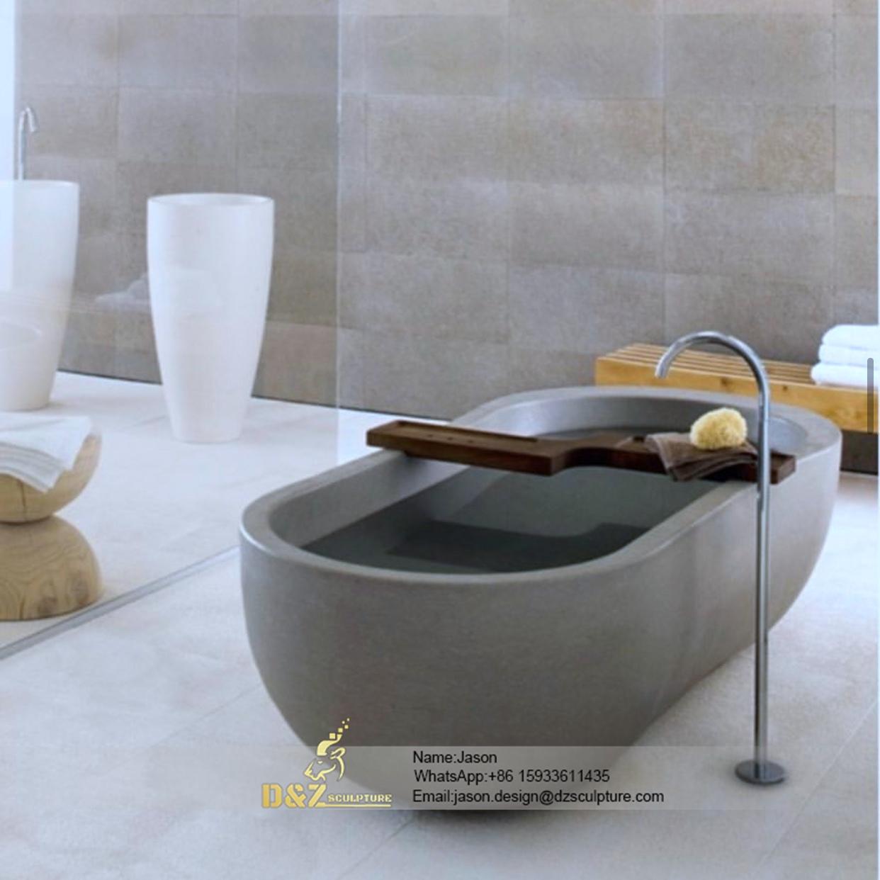 Modern stone bathtub
