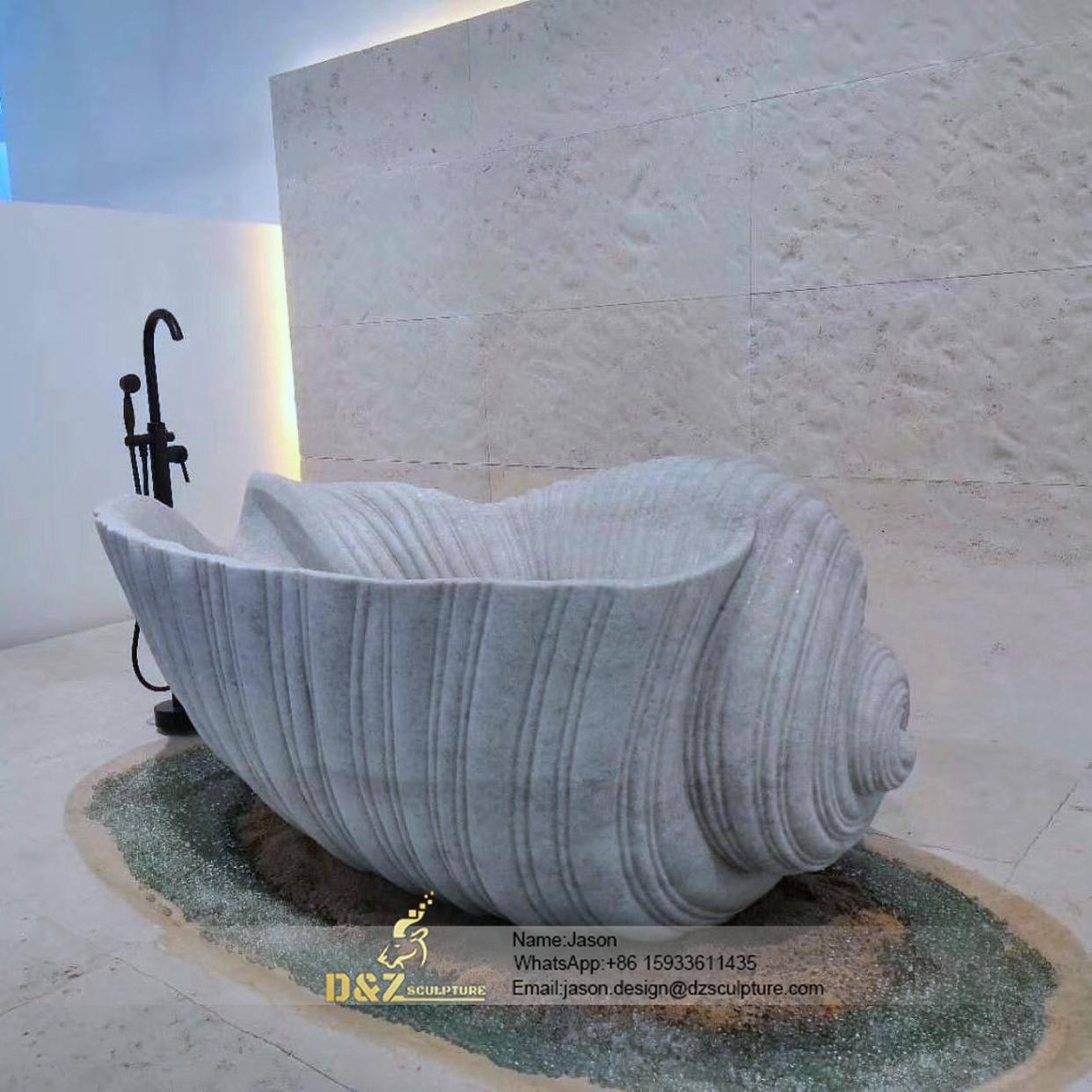Spiral stone bathtub
