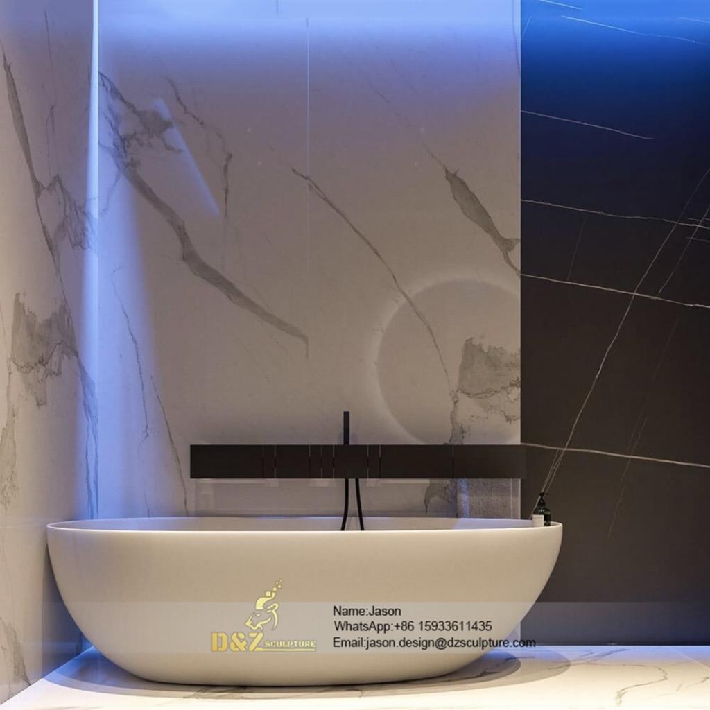 Stone bath tub bathtub