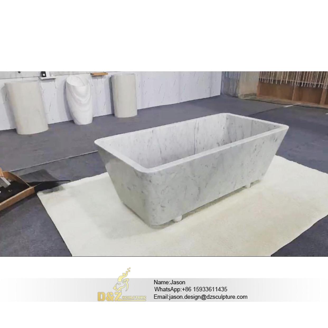 Stone bathtub natural freestanding