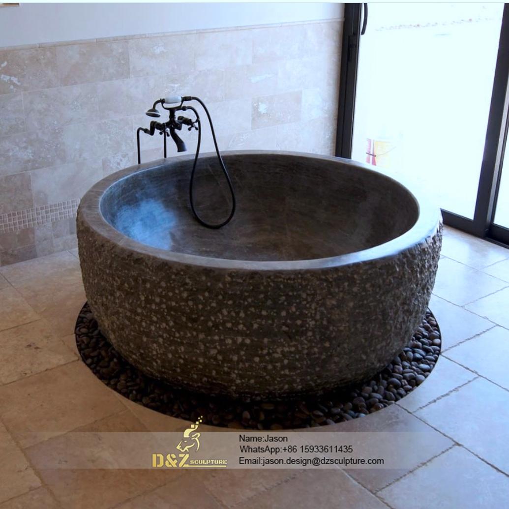 Stone egg bathtub