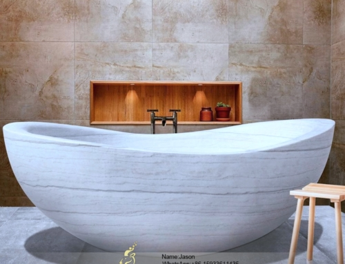 Stone onion shaped bathtub