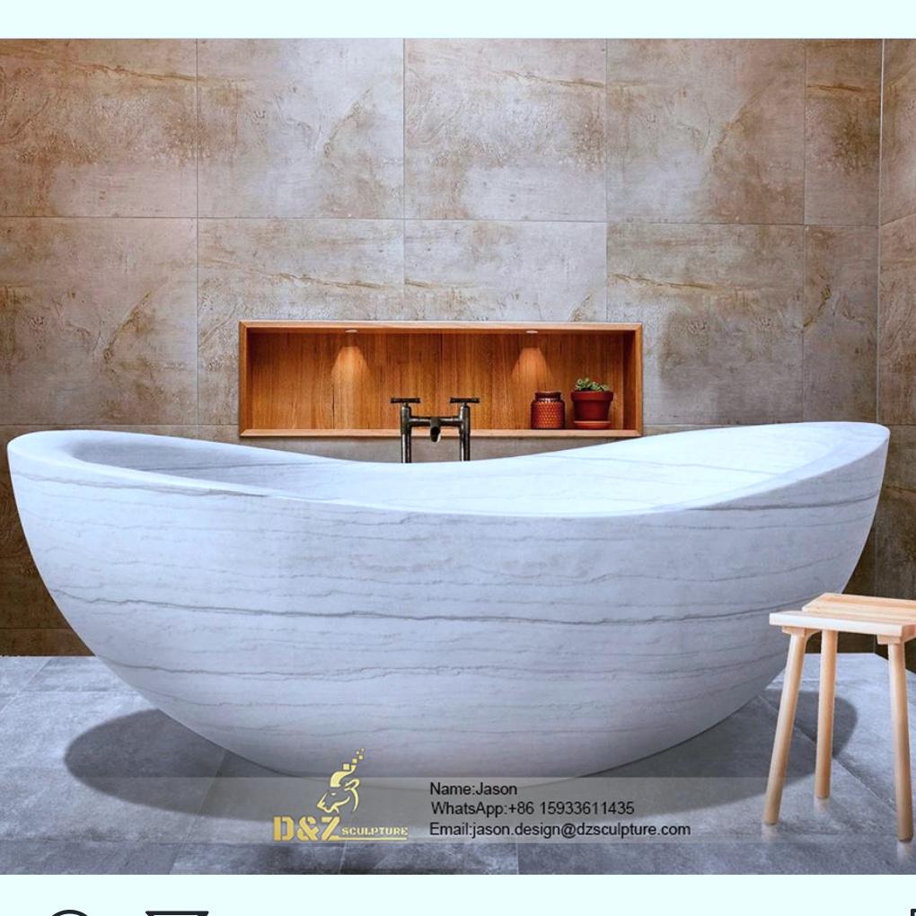 Stone onion shaped bathtub