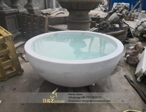 Stone round bathtub