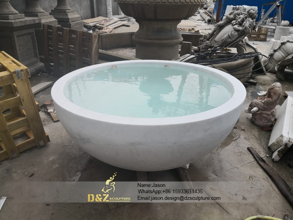 Stone round bathtub