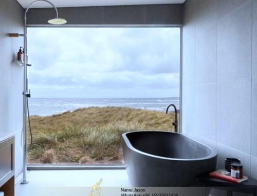 Stone terrazzo bathtub