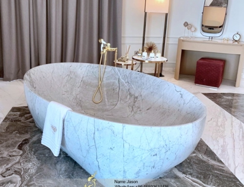 The freestanding stone bathtub