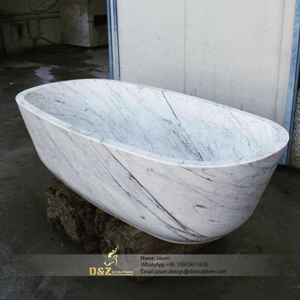 The natural stone bathtub