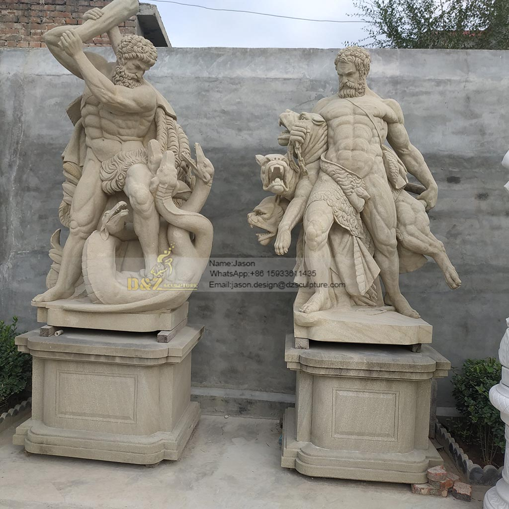Sculpture of brave men