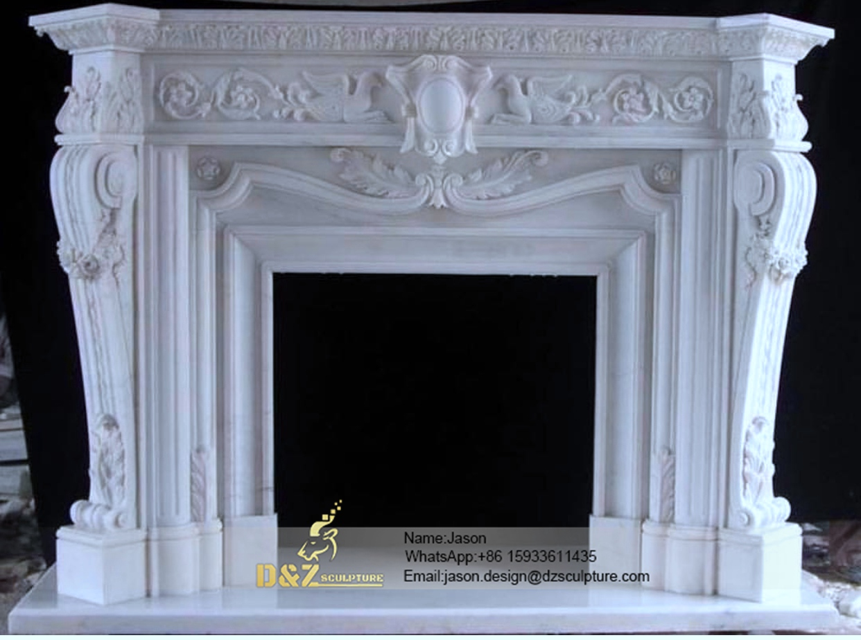 The stone fireplace natural