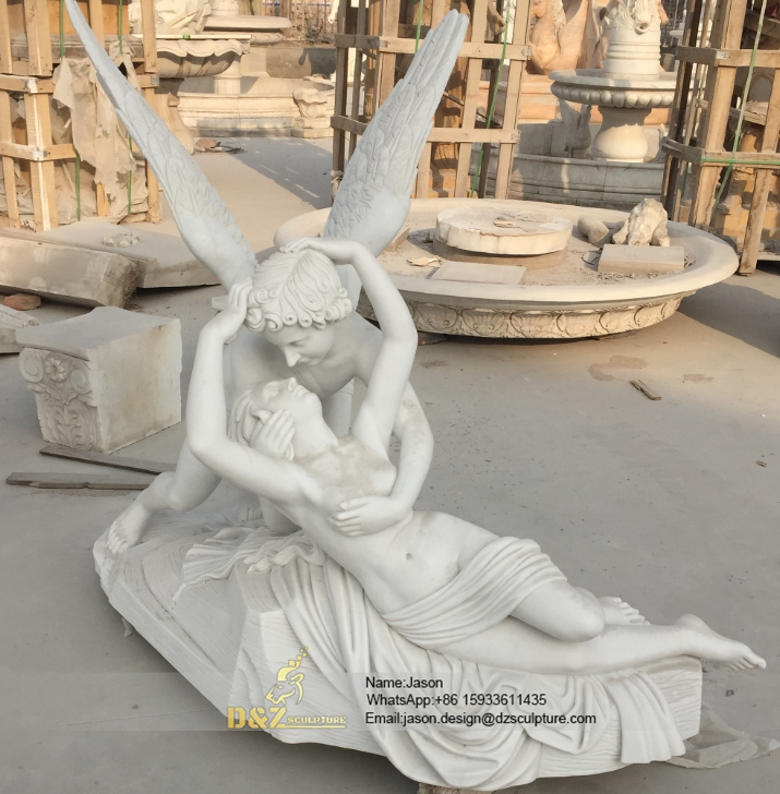 Psyche Revived by Cupid's Kiss statue