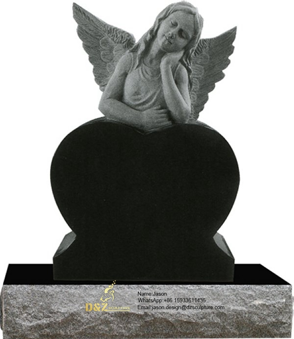 Angel wing for cemetery