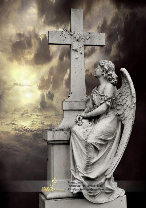 Cemetery angels art