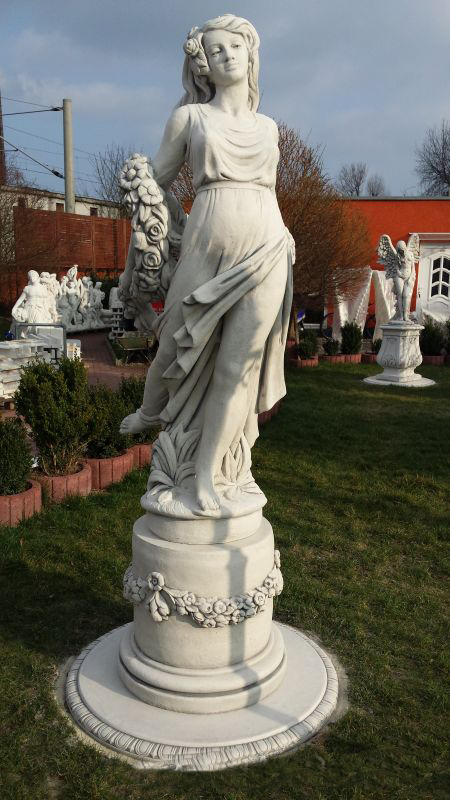 Girl with garland statue