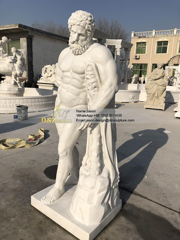 Hercules sculpture marble