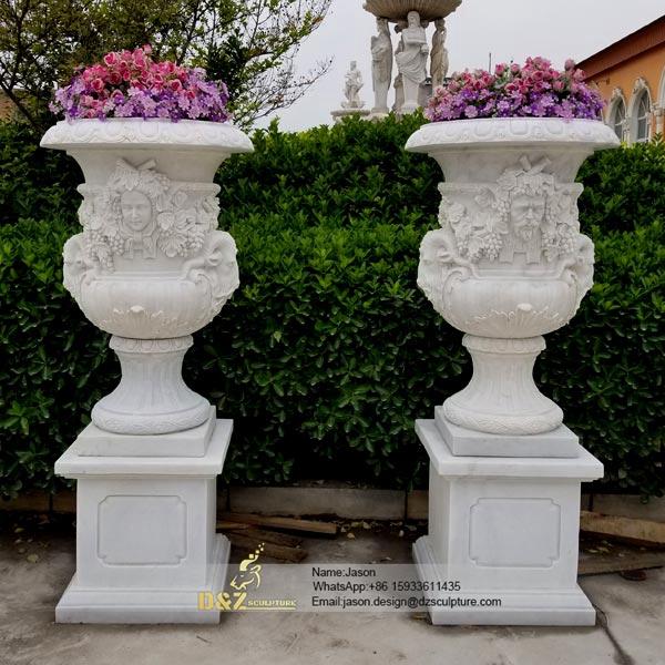 Man head flower pot