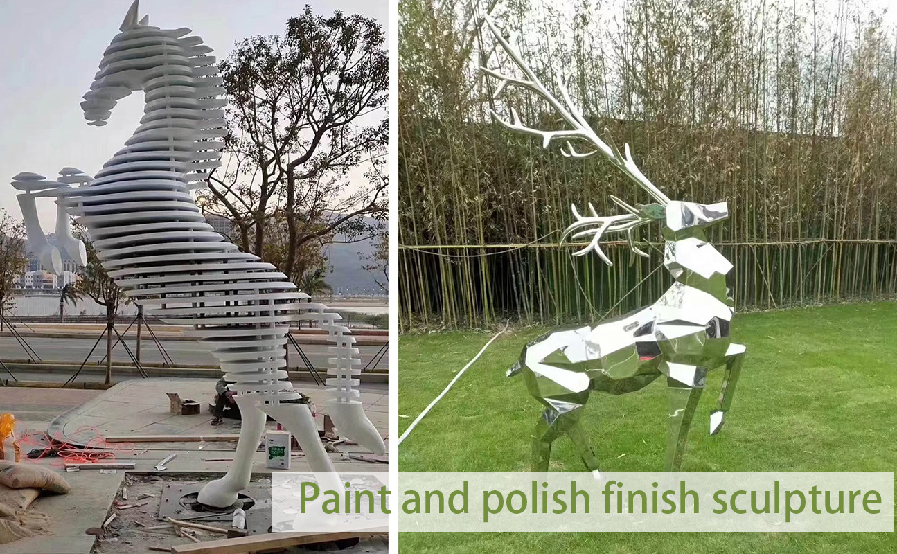 Paint and polish finish sculpture