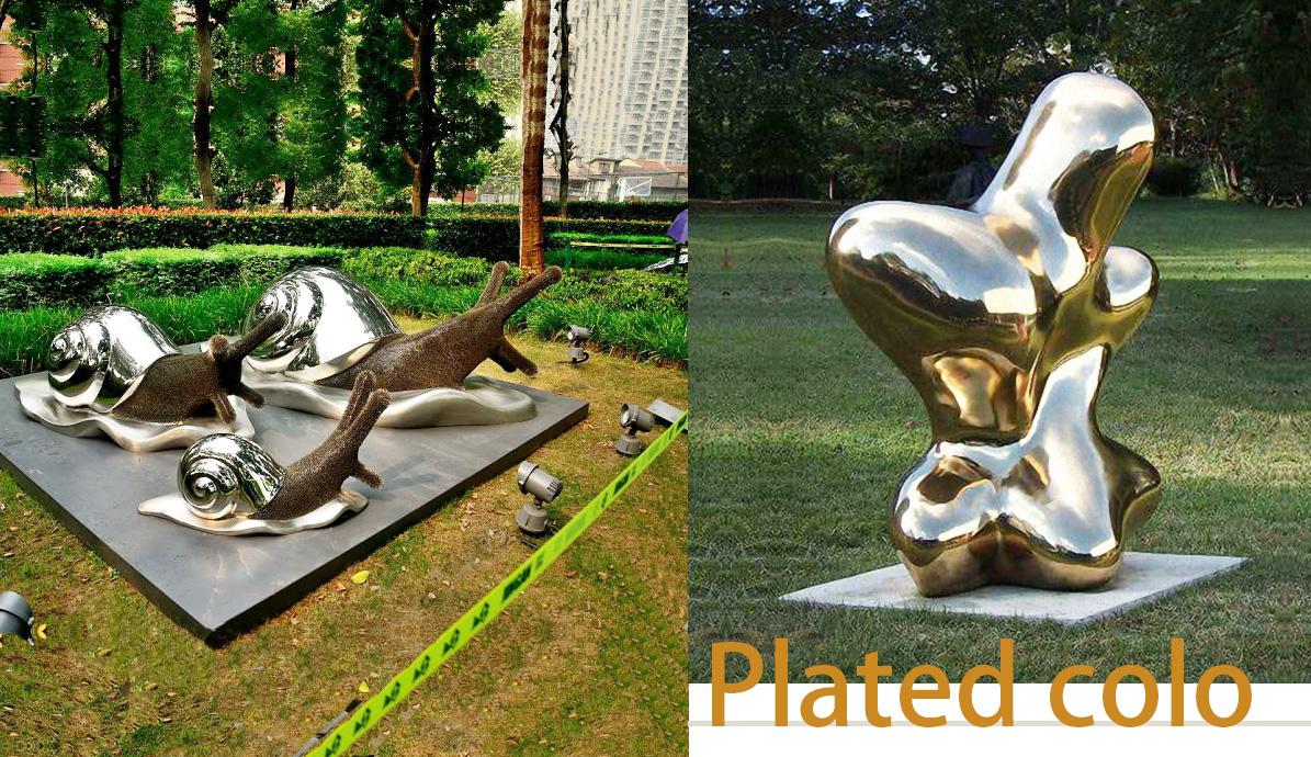 Plated polish statue