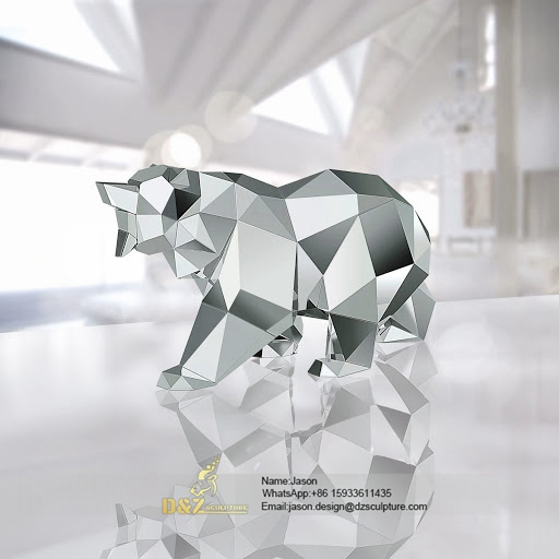 Polished outdoor bear statues