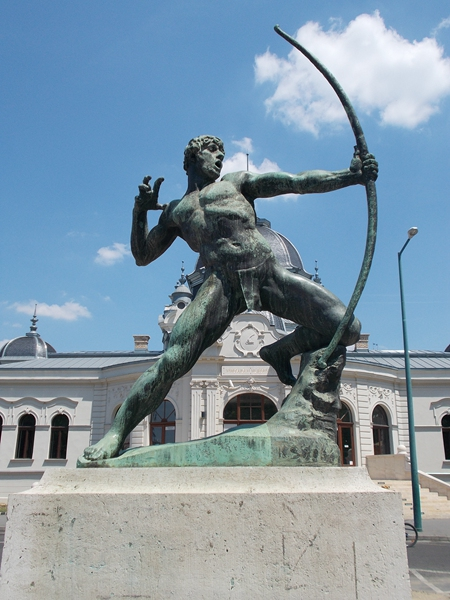 vivid archer statue