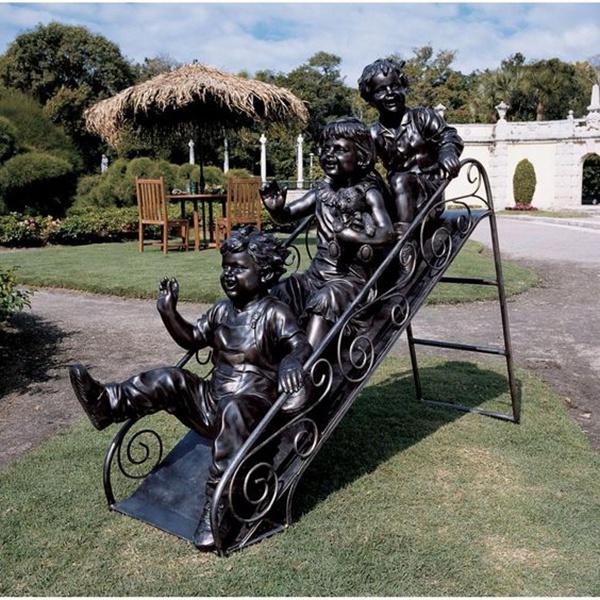 children slide decorative sculpture