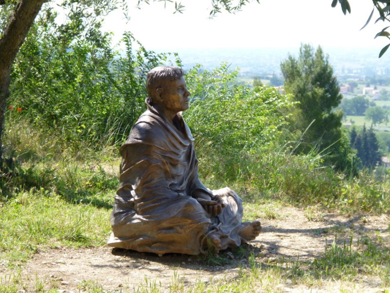 man of meditation sculpture