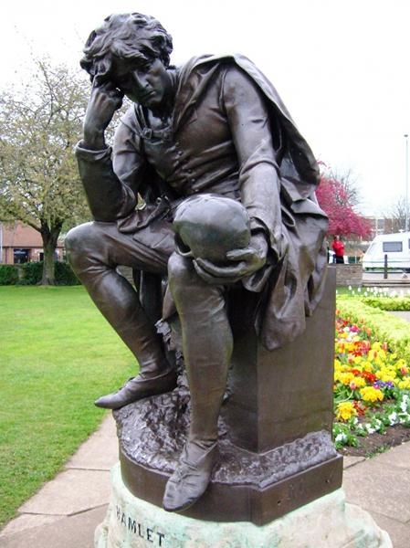 garden Shakespeare thinker statue