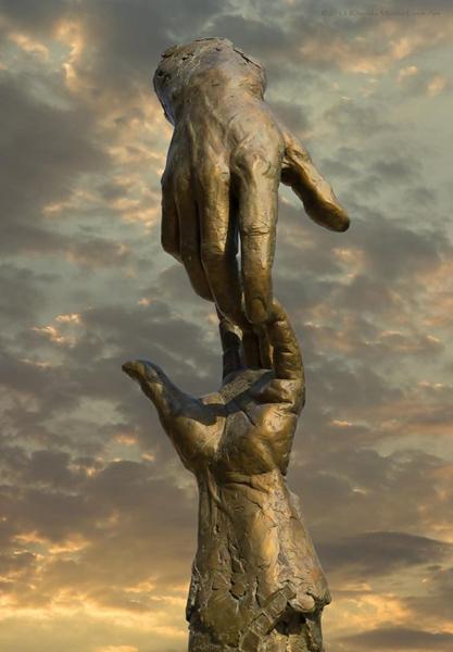 art hand abstract sculpture