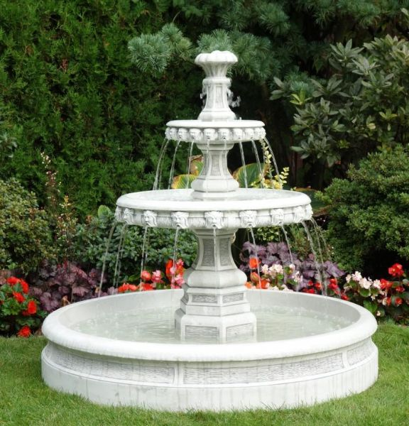 Small fountain garden carve statue