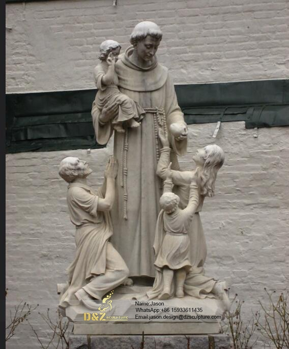St. Anthony with children statue