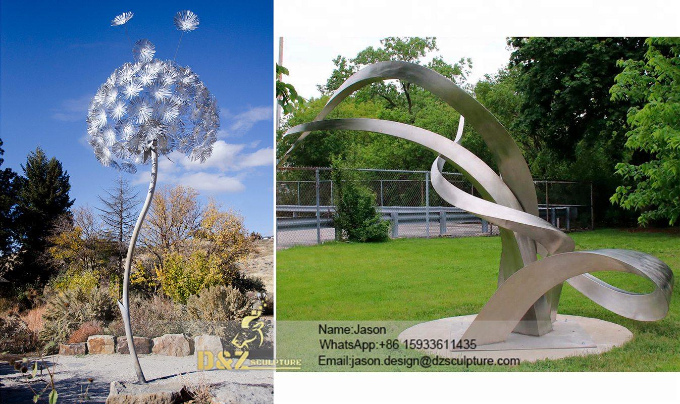 Crescent Moon Metal Statues
