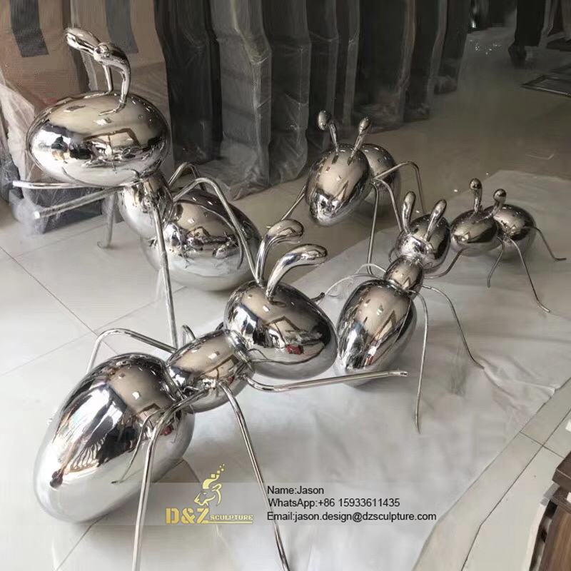 Stainless Steel ant Sculpture