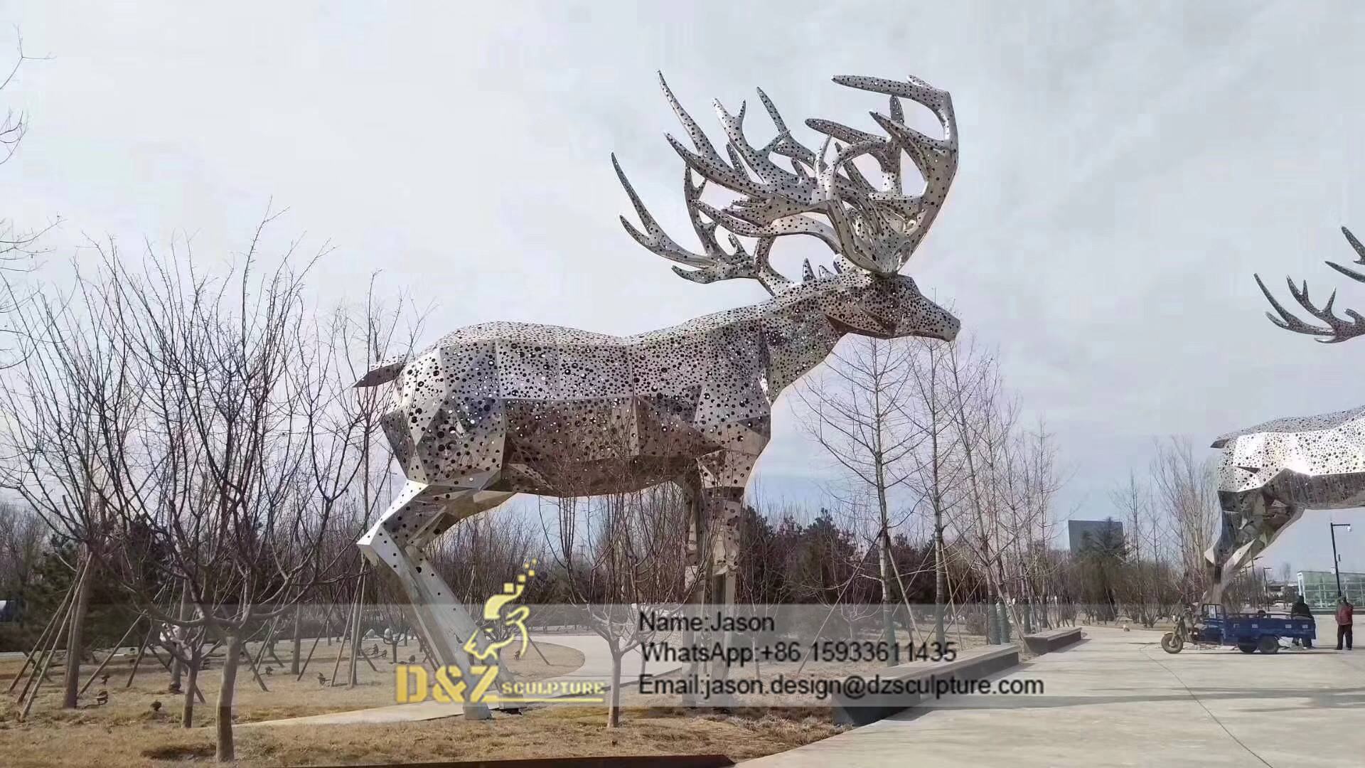Stainless moose Sculpture