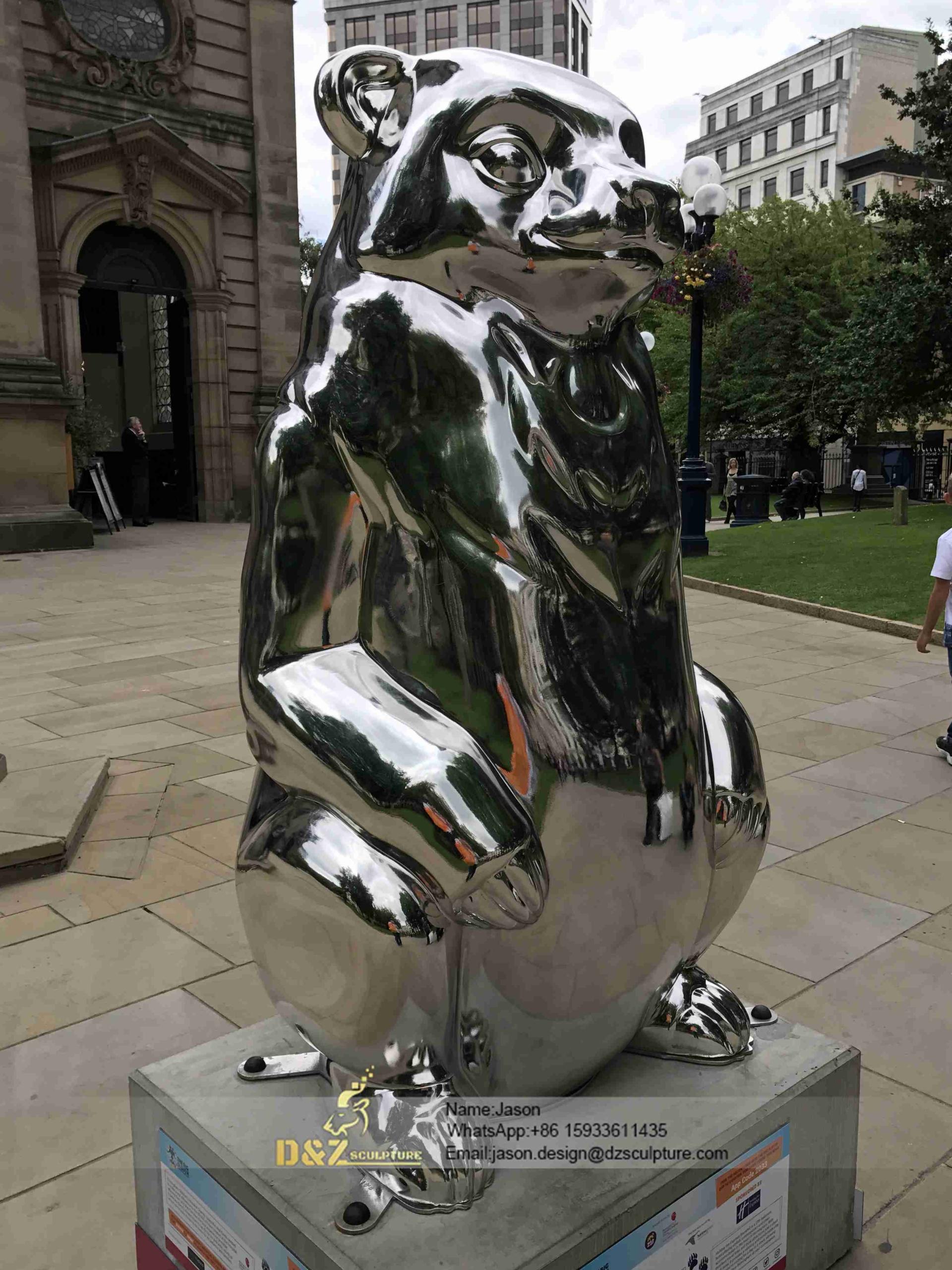 Steel standing bear Sculpture