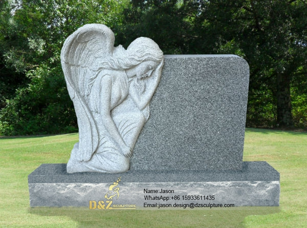 Statues of angels for cemeteries
