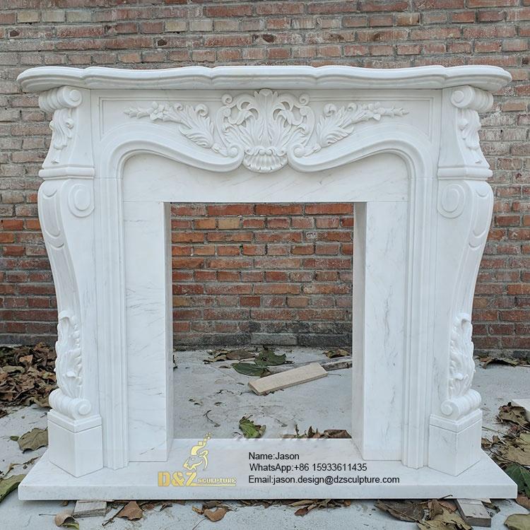 Stone statue fireplace