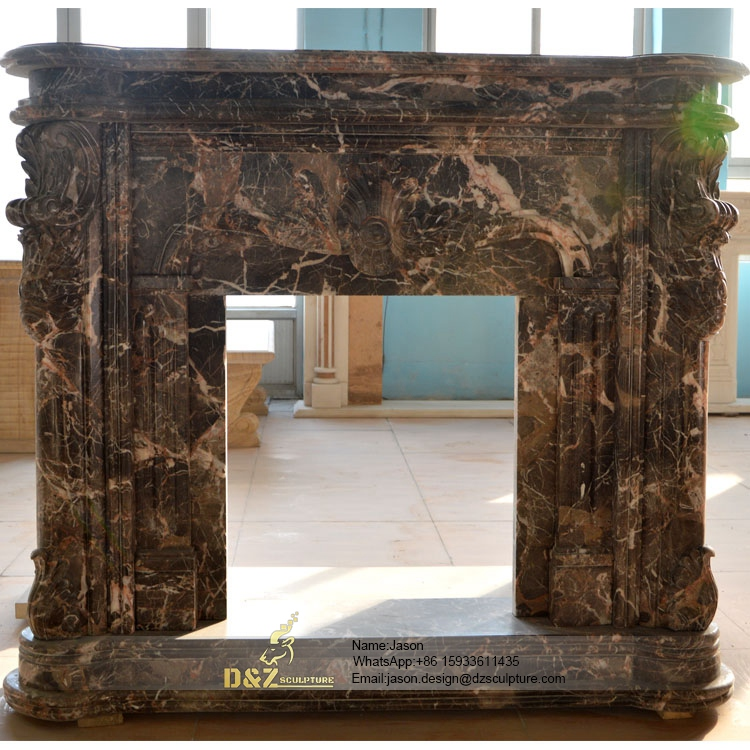 Stone veneer fireplace design