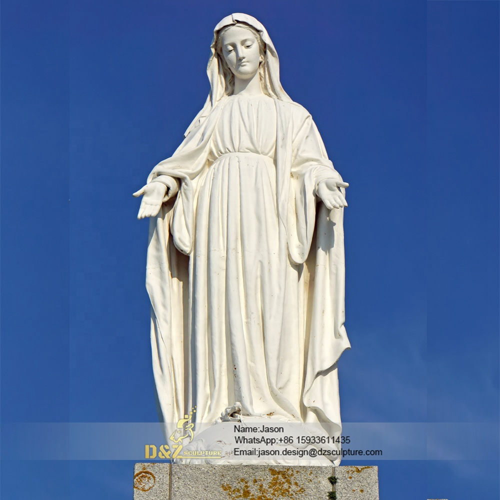 Virgin mary garden statues