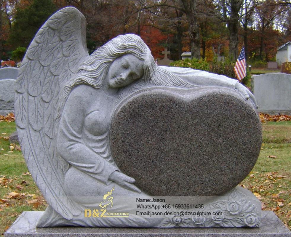 Weeping cemetery angel statue