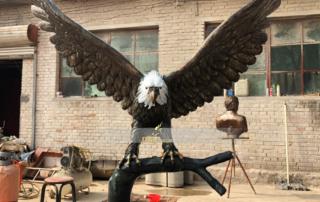Eagle bronze statue
