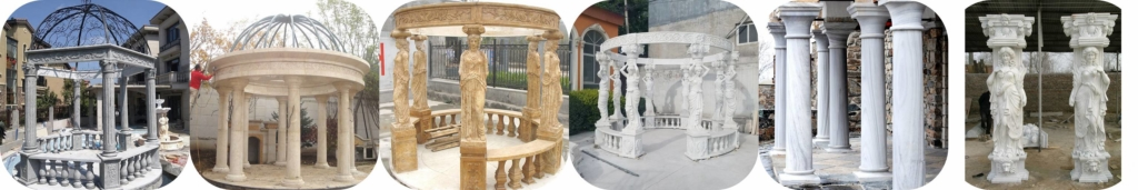 gazebo and pillars