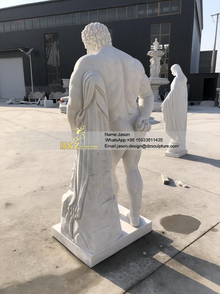marble Hercules sculpture