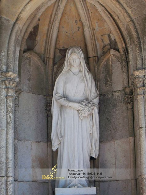 Virgin mary stone sculpture