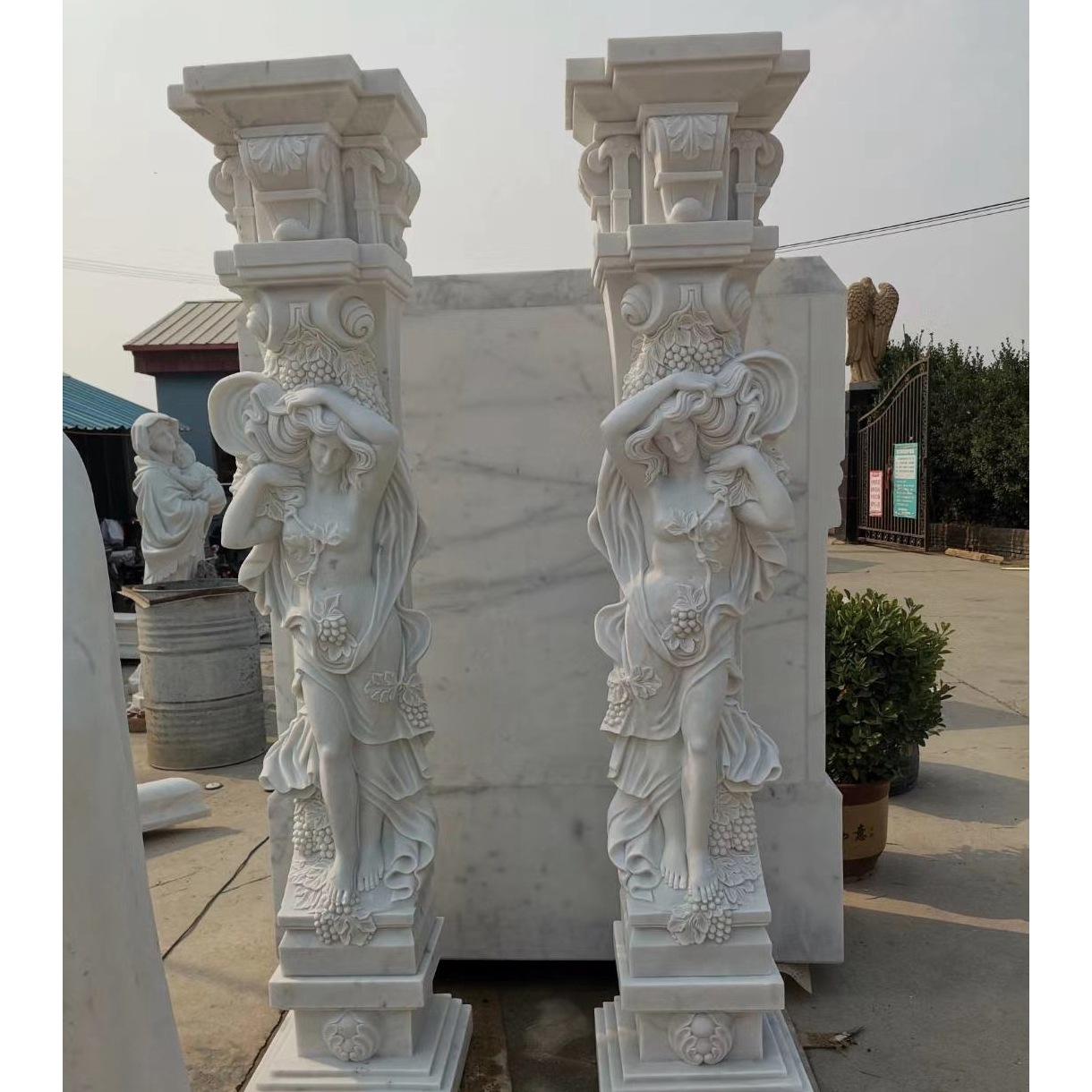 Woman sculpture pillar