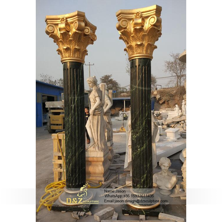 Black decorative pillar