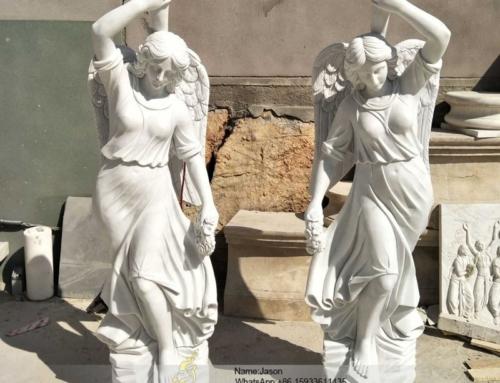 Humanoid sculpture pillar