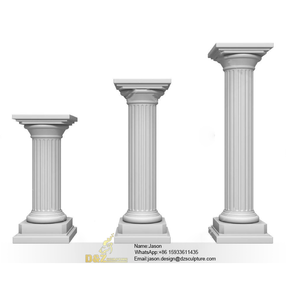 Columns of uneven height