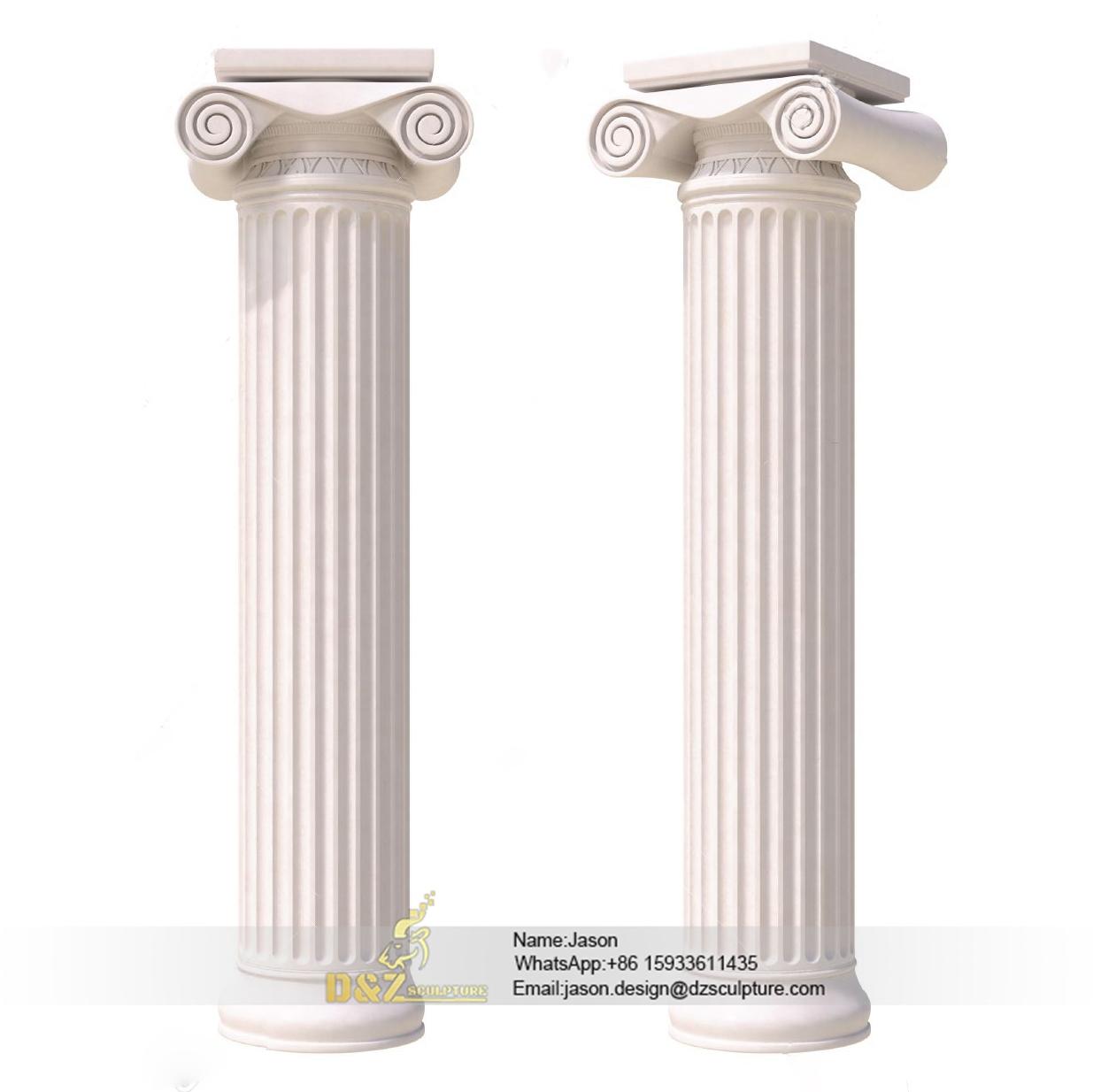 Large round stone pillars