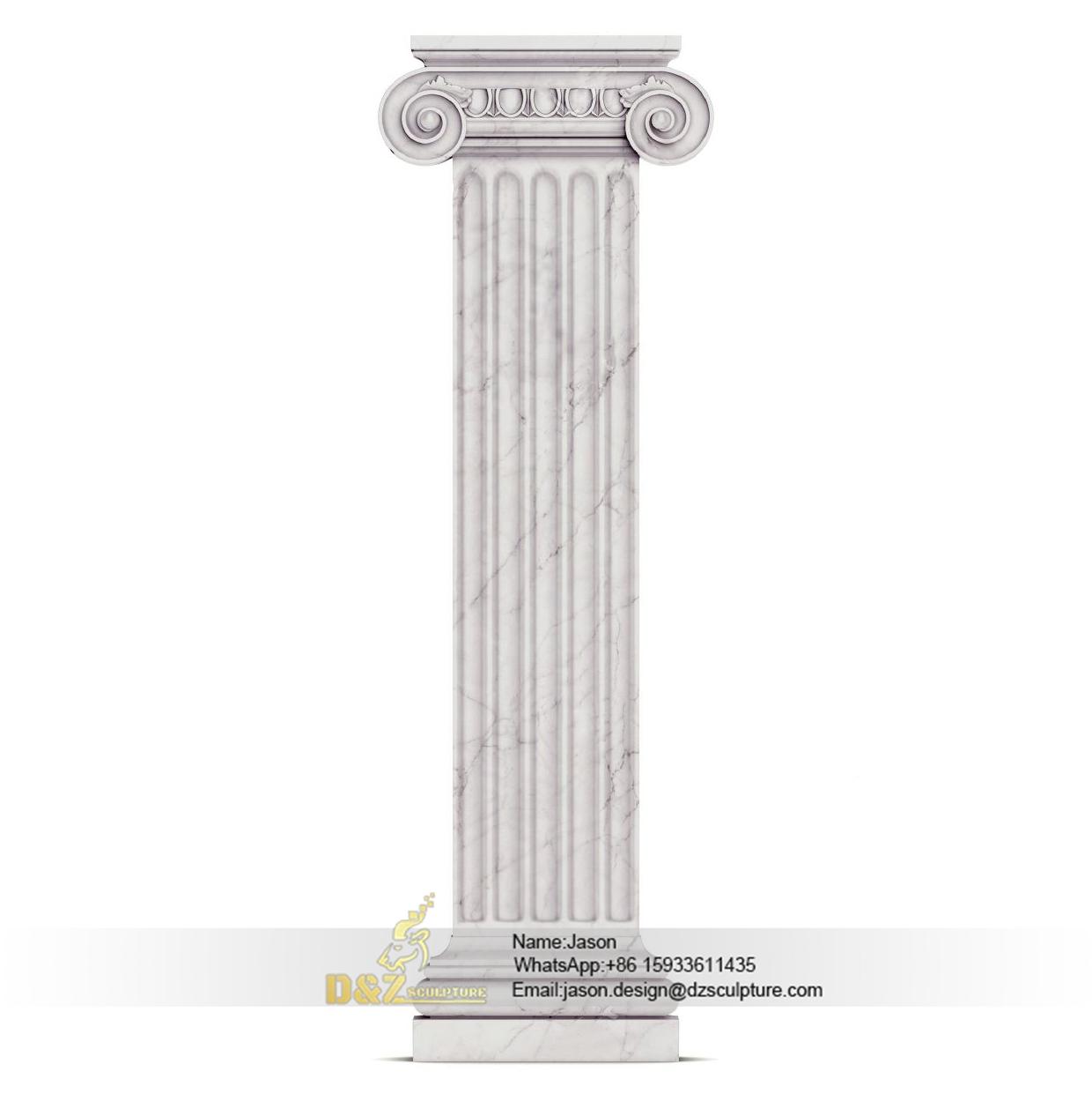 Large square stone pillar